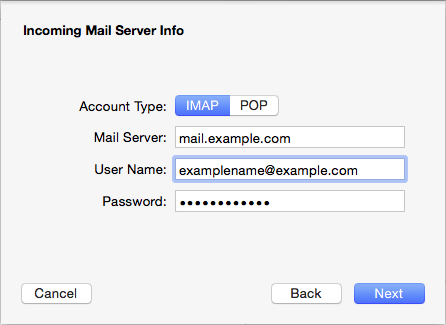 Mail - Account Type