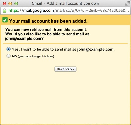how to add an alias to gmail