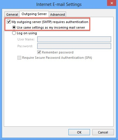 bluehost email settings outlook