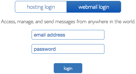 The webmail login form.