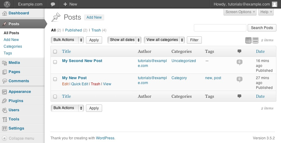 f5756bf0d8c WordPress Creating Editing Removing posts - Bluehost