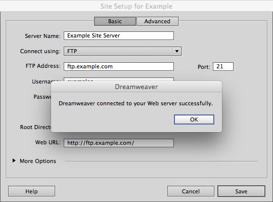 FTP Setup On Dreamweaver CC 2014