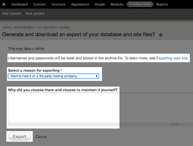 Lovely The Export Page.