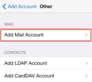 Email Application Setup - iOS Devices - Bluehost