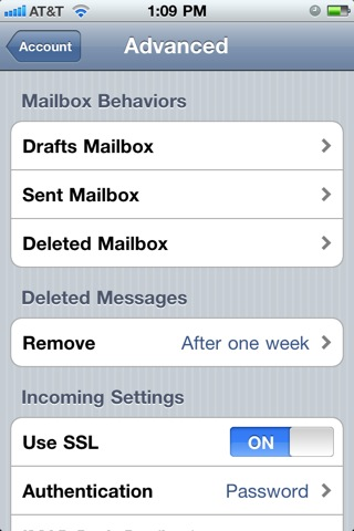 add mailbox to iphone ios auto delete sent mail from imap sent folder on 3250