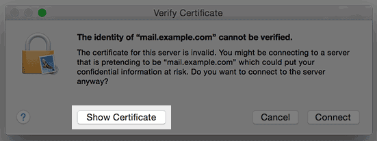 Email Security: SSL Trust Error in Email Applications - Bluehost