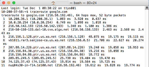 Traceroute tracert - Bluehost