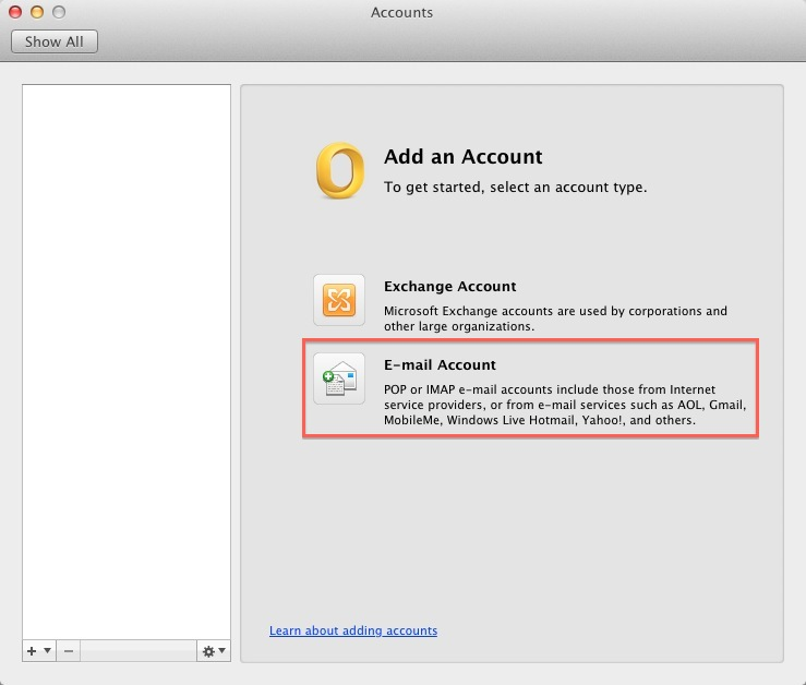 how to create a new email account outlook