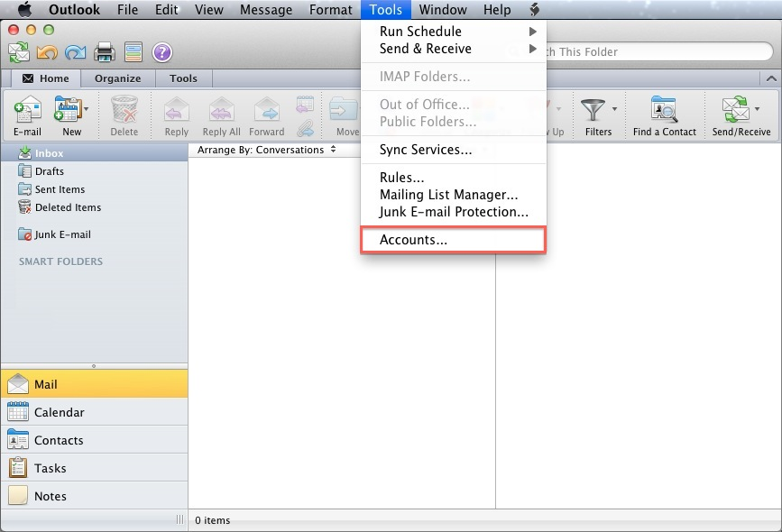 Email Application Setup - Outlook 2011 for macOS - Bluehost