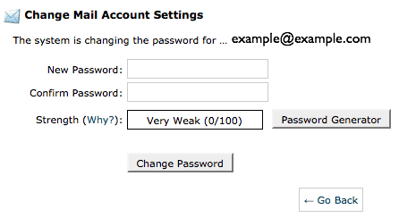 Resetting The Password For An Email Account