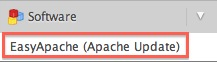 EasyApache in the Software section