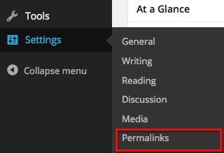 WordPress Permalinks Settings
